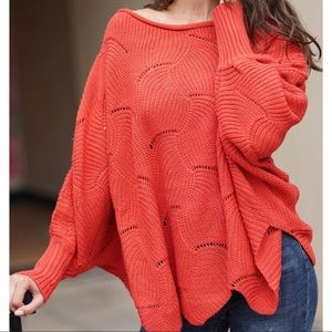 Sweaters - Rust- Knit Dolman Sleeve Sweater